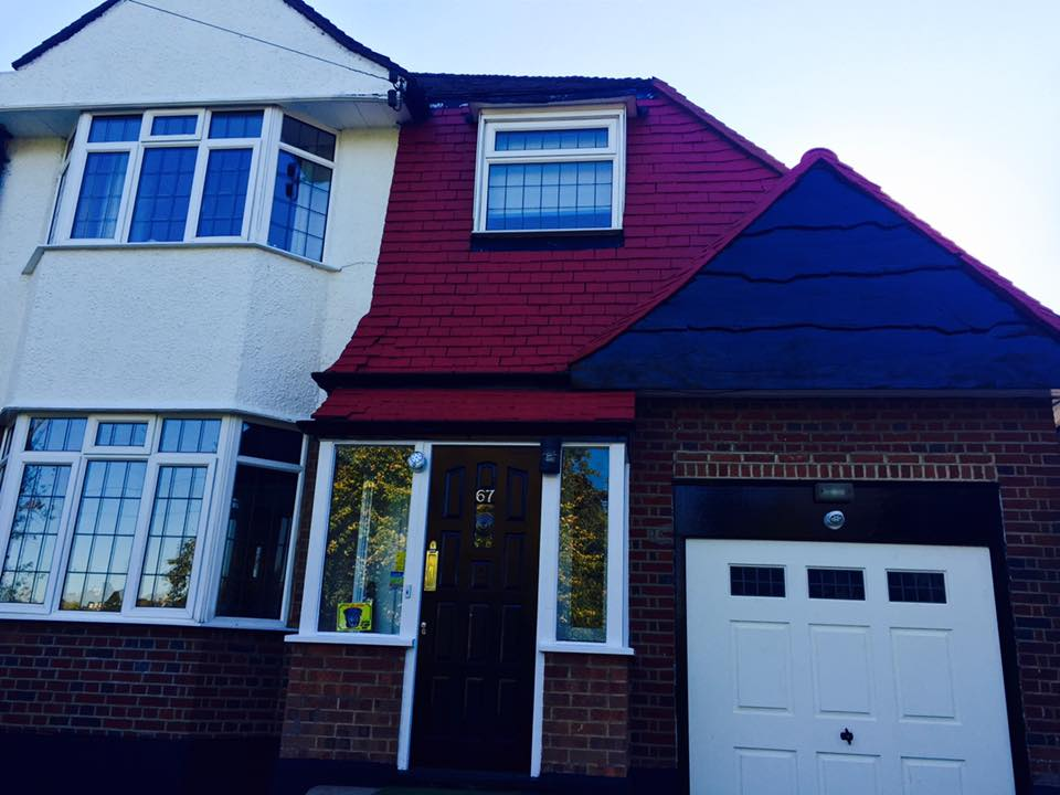 London Painter Decorators house exterior after finished paint job.