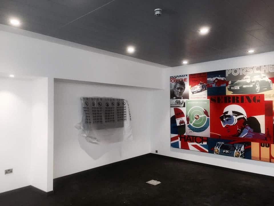 London Painter Decorators Porche Showroom Paint3